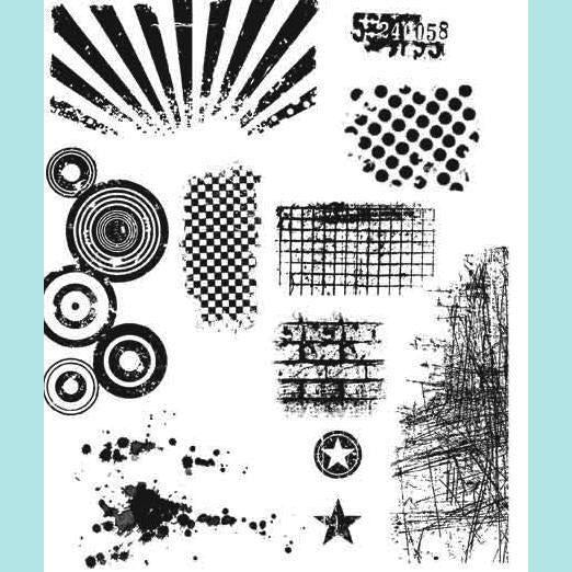 Tim Holtz - Tim Holtz Cling Mount Stamps - Bitty Grunge