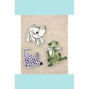 Prima Marketing - Art Stitched Charms Collection - Mulberry Paper Dog Embellishments
