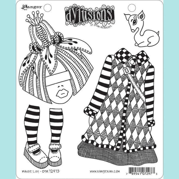 Ranger - Dyan Reaveley - Dylusions Cling Mount Stamps Maisie Lilly