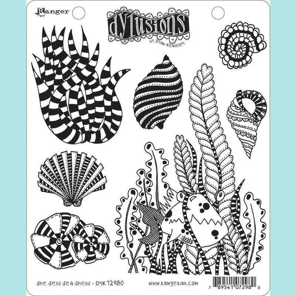 Ranger - Dyan Reaveley - Dylusions Cling Mount Stamps She Sells Sea Shells