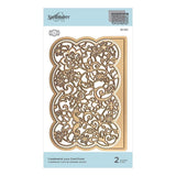 Spellbinders - Candlewick Lace Card Front Etched Dies - Candlewick Sampler Collection
