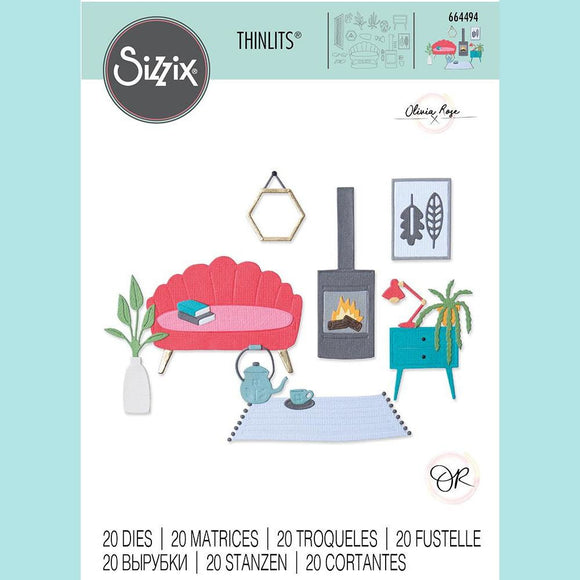 Sizzix Thinlits Die Set 20PK - Cozy Night In