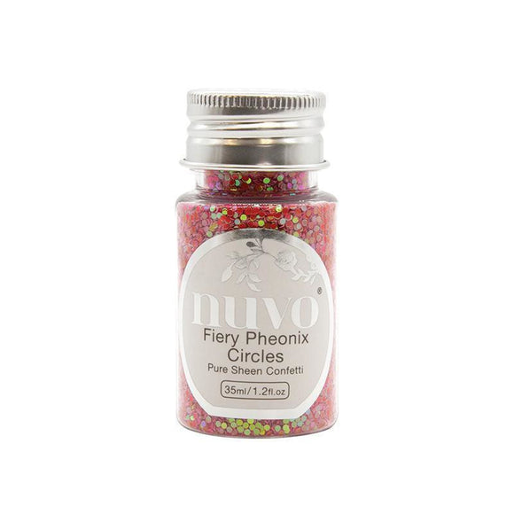 Nuvo - Merry and Bright Collection - Pure Sheen Confetti - Fiery Phoenix Circles