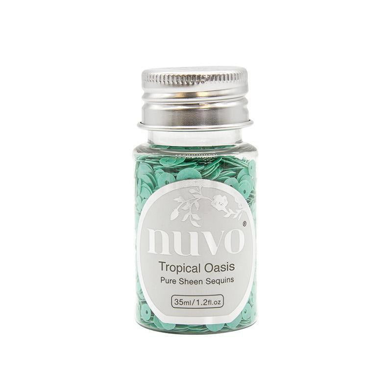 Nuvo - Merry and Bright Collection - Pure Sheen Sequins - Tropical Oasis