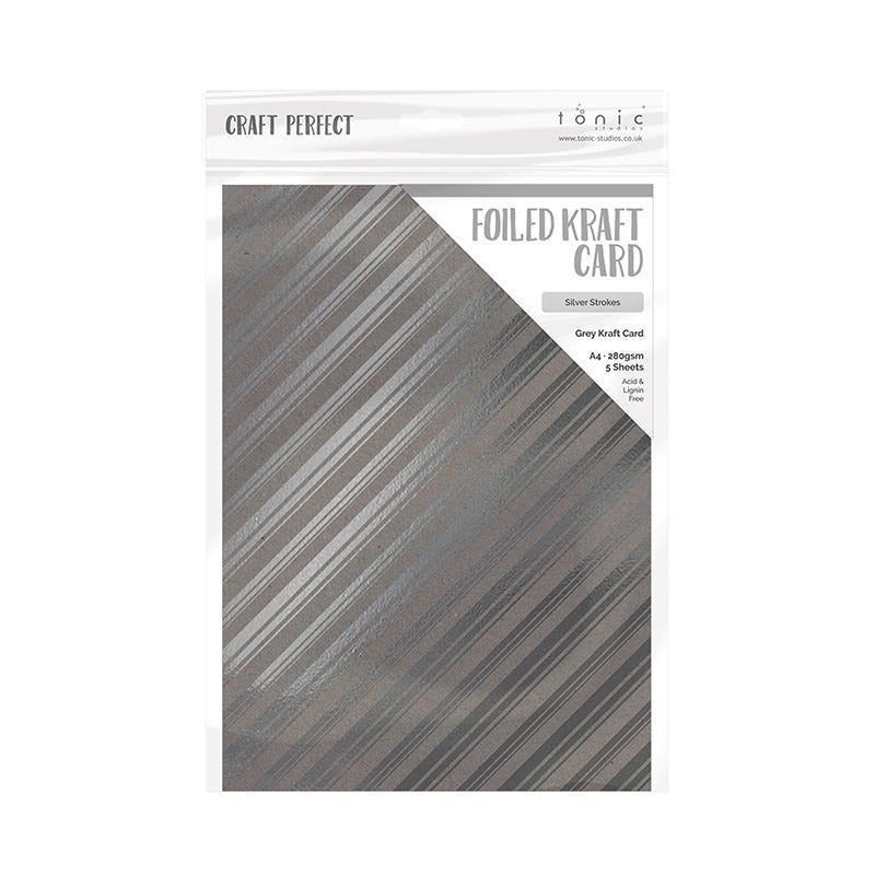 Add a little shine to your kraft card projects with the gorgeous foiled collection from Craft Perfect! The range features 8 varieties in brown, grey, black and white card decorated with gold, silver and rose gold foil detailing. Choose from a number of both intricate and simple patterns to find the right card for your design.  Each pack contains 5 sheets of 280gsm Foiled Card.