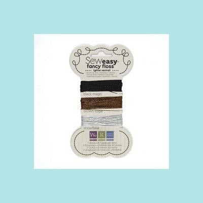 Gray We R Memory Keepers - WRMK - Seweasy Fancy Floss and Baker's Twine