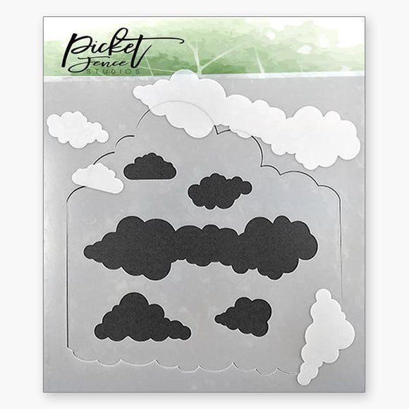 Picket Fence Studios - Layers of Clouds Stencil