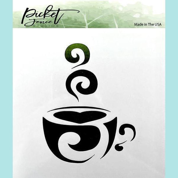 Picket Fence Studios - Coffee cup Stencil
