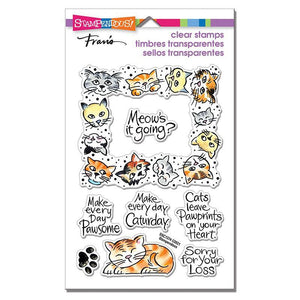 Stampendous - Kitty Frame Perfectly Clear Stamps Set