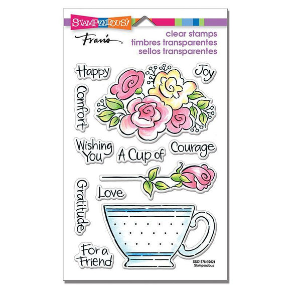Stampendous - POP Rose Teacup Perfectly Clear Stamps Set