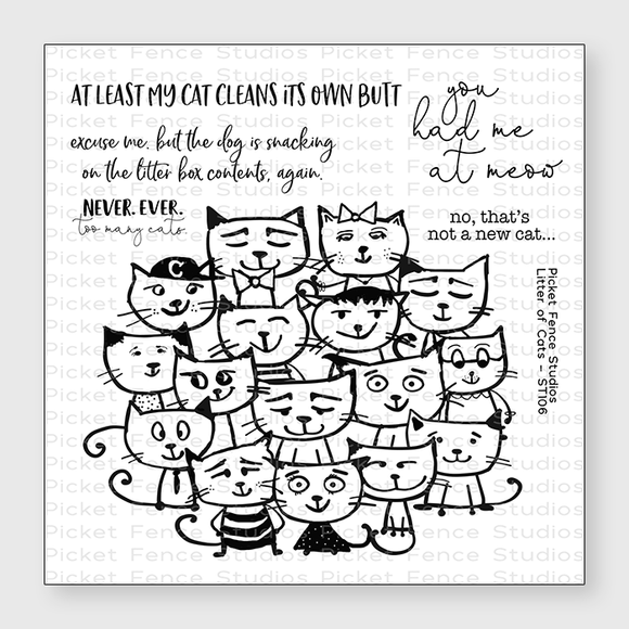 Picket Fence Studios - Litter of Cats Stamp Set