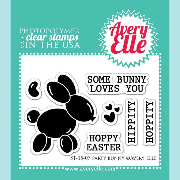 Avery Elle Party Bunny Clear Stamps & Die