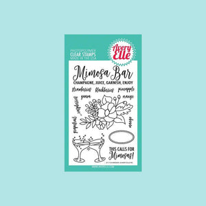 Avery Elle Mimosas Clear Stamp Set and Die Bundle