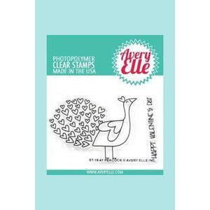 Avery Elle - Peacock Clear Stamps and Dies