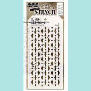 Stampers Anonymous - Tim Holtz Layering Stencil : Diamond Dot
