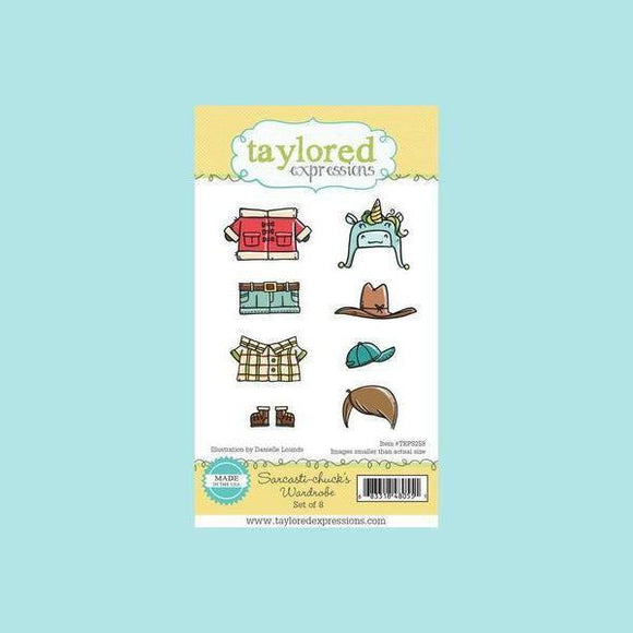 Taylored Expressions - Sarcasti-chuck's Wardrobe Stamps and Dies