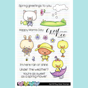 C.C. Designs - April & May Stamp and Die