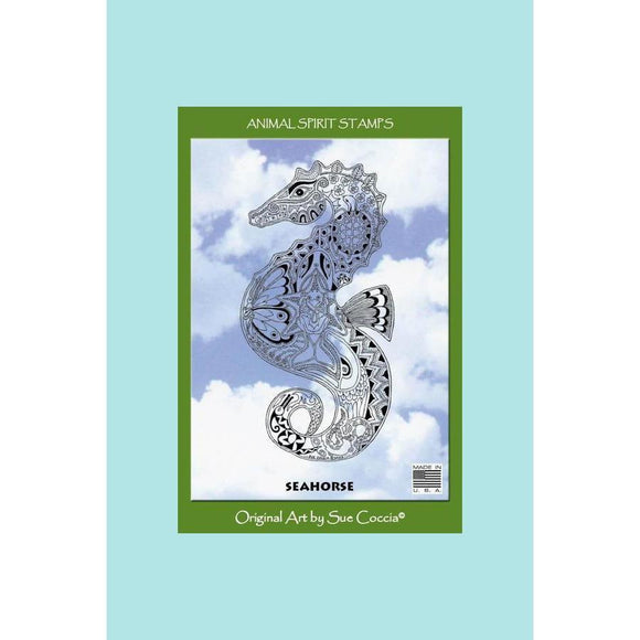 Earth Art International - Seahorse Rubber Stamp - Sue Coccia