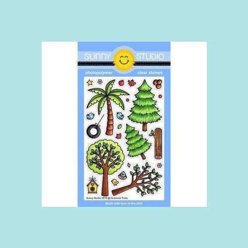 Sunny Studio Stamps - Seasonal Trees - Stamp and Dies
