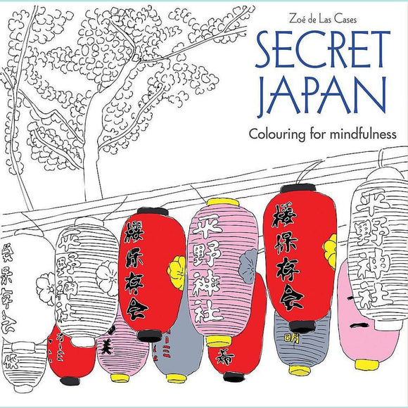 Secret Japan by Zoé de Las Cases - Colouring Book