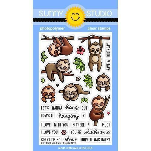 Sunny Studio Stamps - Silly Sloths - Stamp and Dies