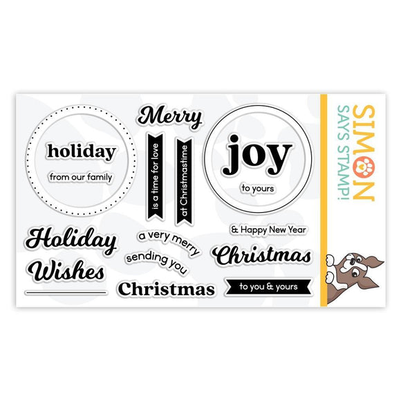 Simon Says Stamp - Clear Stamps - Circle Sentiments Christmas Stamptember