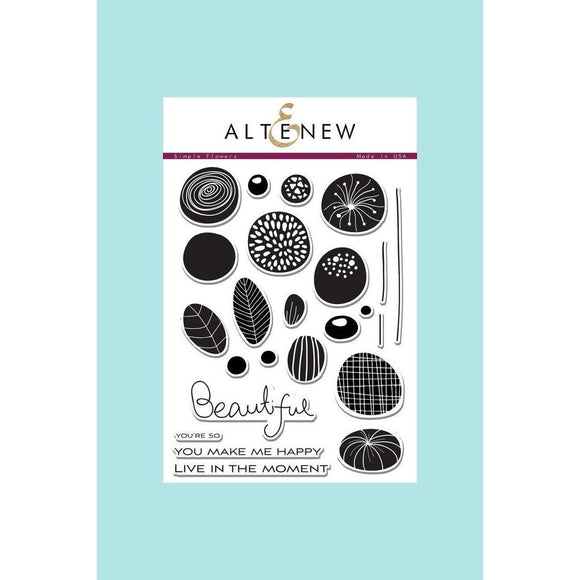 Altenew Simple Flowers Stamp & Die Bundle
