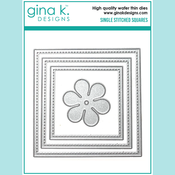 Gina K - Single Stitched Square Dies