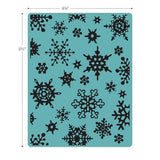 Sizzix - Texture Fades Embossing Folder - Simple Snowflakes