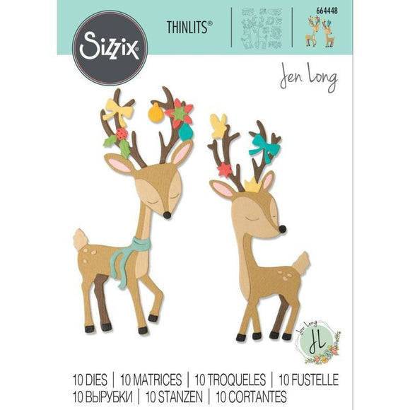 Sizzix - Thinlits Die Set 10PK - Christmas Deer