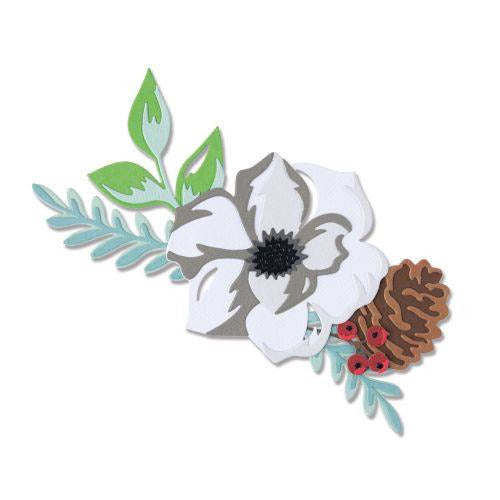 Sizzix - Thinlits Die Set 13PK - Layered Winter Flower