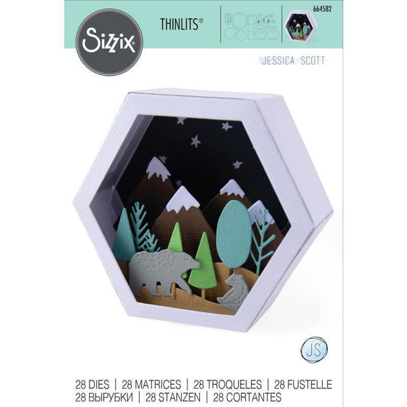 Sizzix - Thinlits Die Set 28PK - Box, Winter Scene
