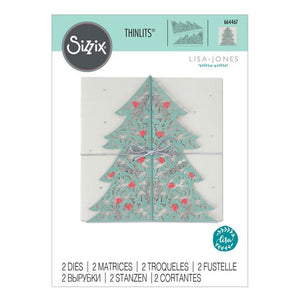 Sizzix - Thinlits Die Set 2PK - Christmas Tree Card