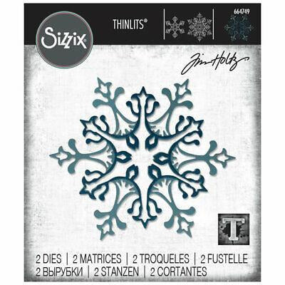 Sizzix - Thinlits Die Set 2PK - Stunning Snowflake by Tim Holtz