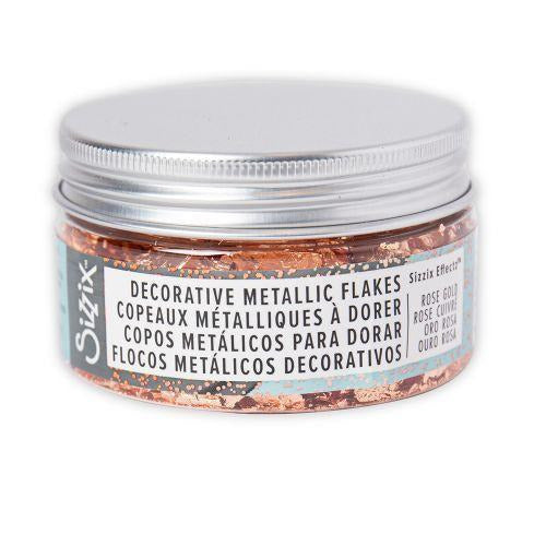 Sizzix Effectz - Decorative Metallic Flakes ROSE GOLD