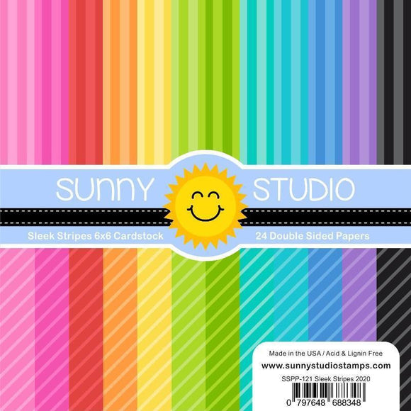 Sunny Studio Stamps - Sleek Stripes Paper