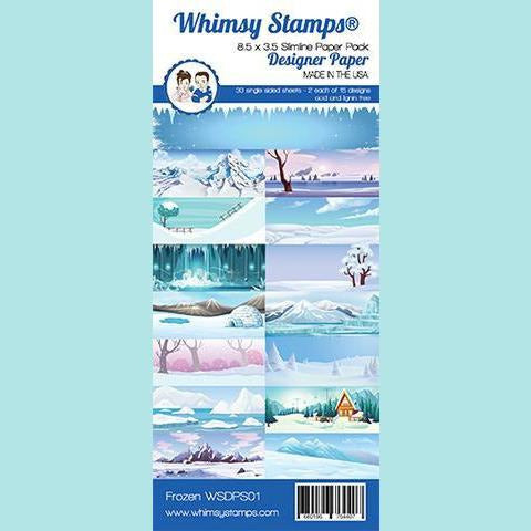 Whimsy Stamps - Slimline Paper Pack - Frozen