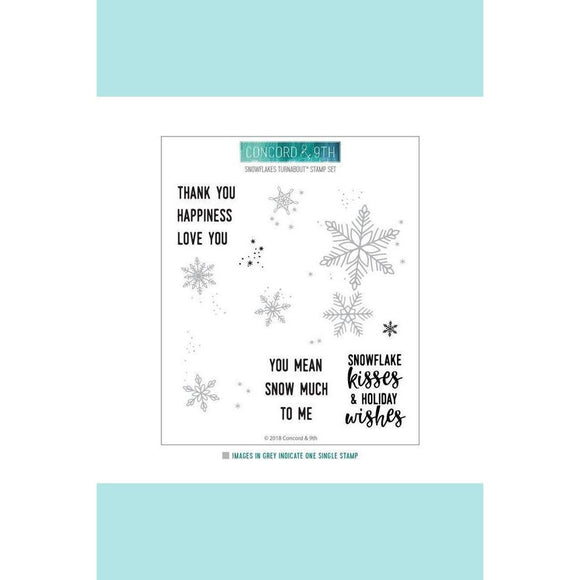 Concord & 9th SNOWFLAKES TURNABOUT™ Stamp