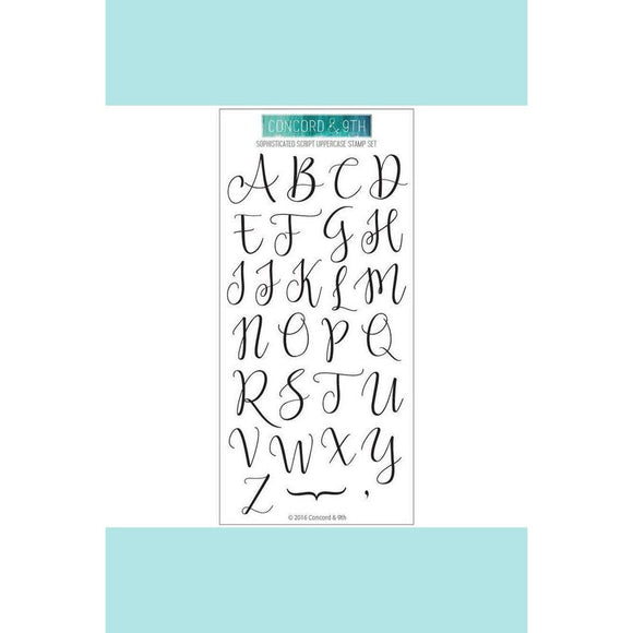 Concord&9th Sophisticated Uppercase stamp set