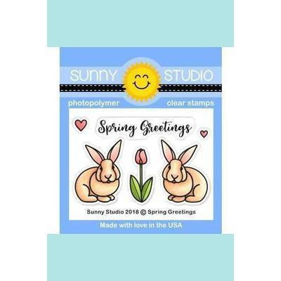 Sunny Studio Stamps - Spring Greetings Stamp and Die