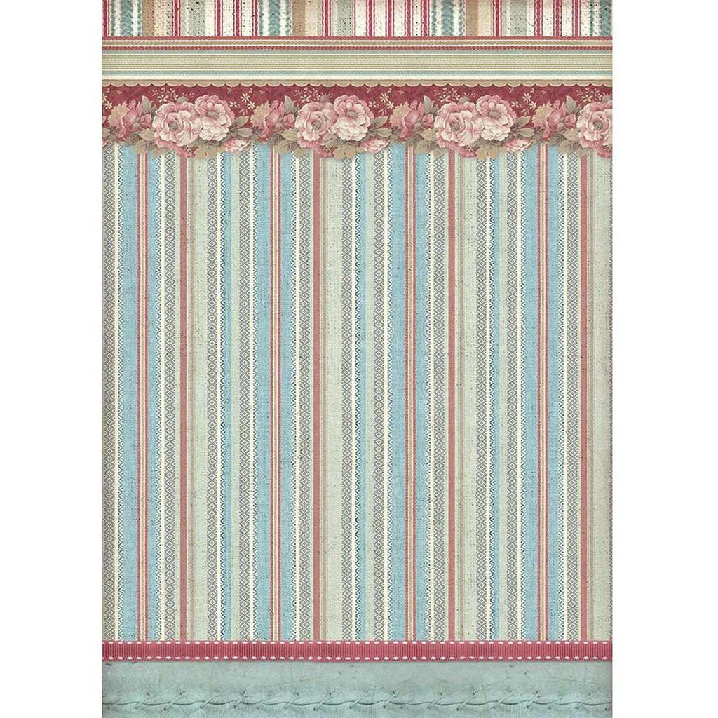 Stamperia - Rice Paper A4 - Striped Wallpaper