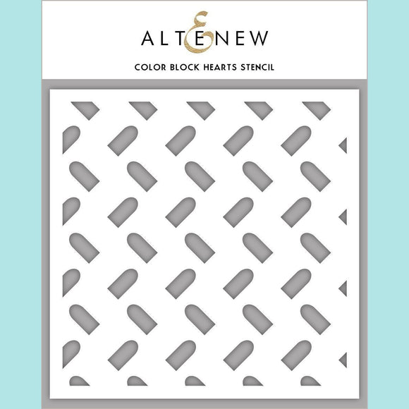 Altenew - Color Block Hearts Stencil