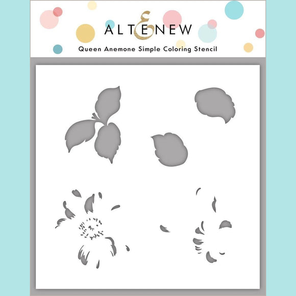 Altenew  - Queen Anemone Simple Coloring Stencil