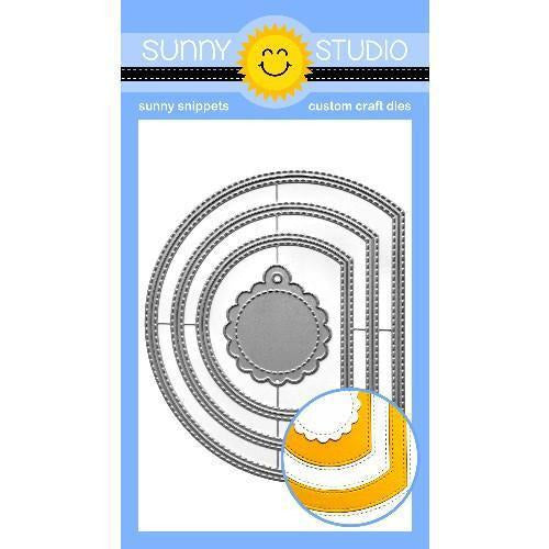 Sunny Studio Stamps - Stitched Semi-Circle Die