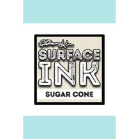 Surface ink cube sugar cone