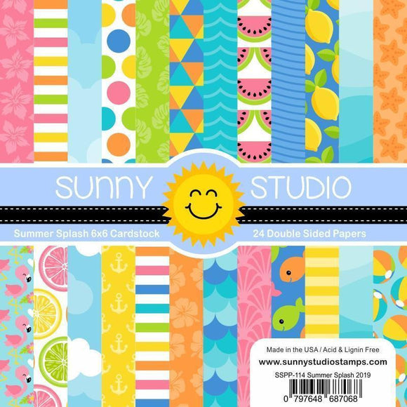 Sunny Studio Stamps - Summer Splash Paper