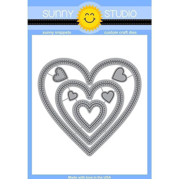 Sunny Studio - Stitched Hearts Dies