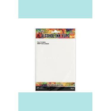 "Tim Holtz® Alcohol Ink Yupo® White Cardstock 5"" x 7"""
