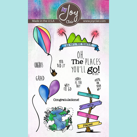 Joy Clair -  Going Places - Clear Stamp Set