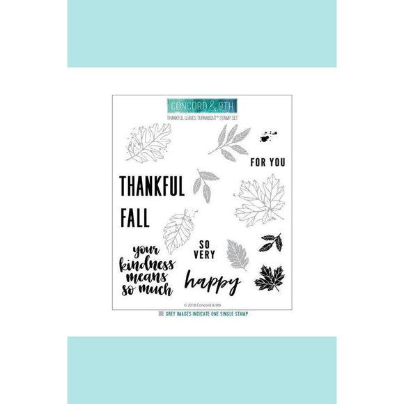 Concord & 9th THANKFUL LEAVES TURNABOUT™ Stamp